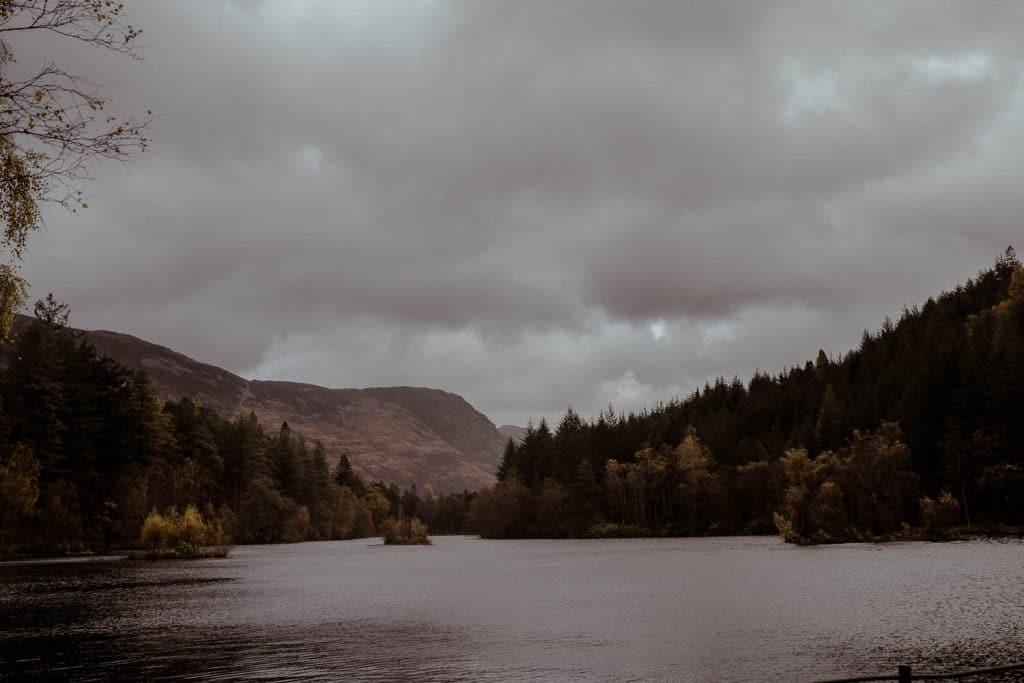 glencoe lochan lake in Scottish Highlands