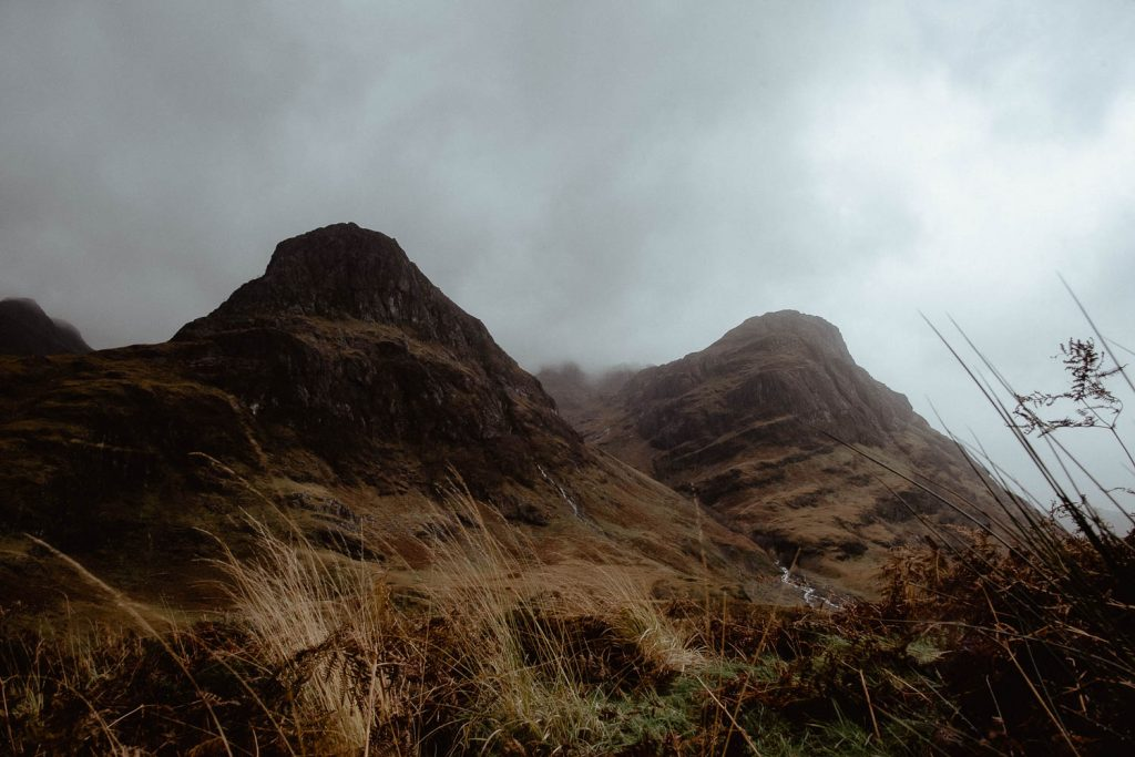 scotland elopement three sisters mountains glencoe