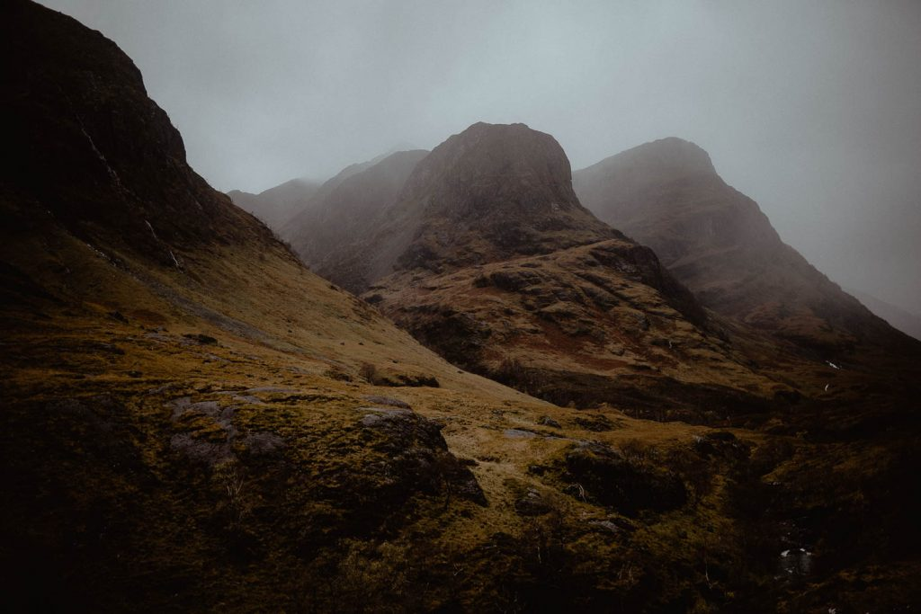 Three Sisters of Glencoe Mountains