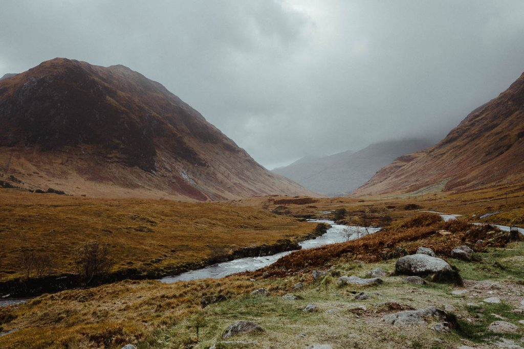 Glen Etive elopement ceremony location